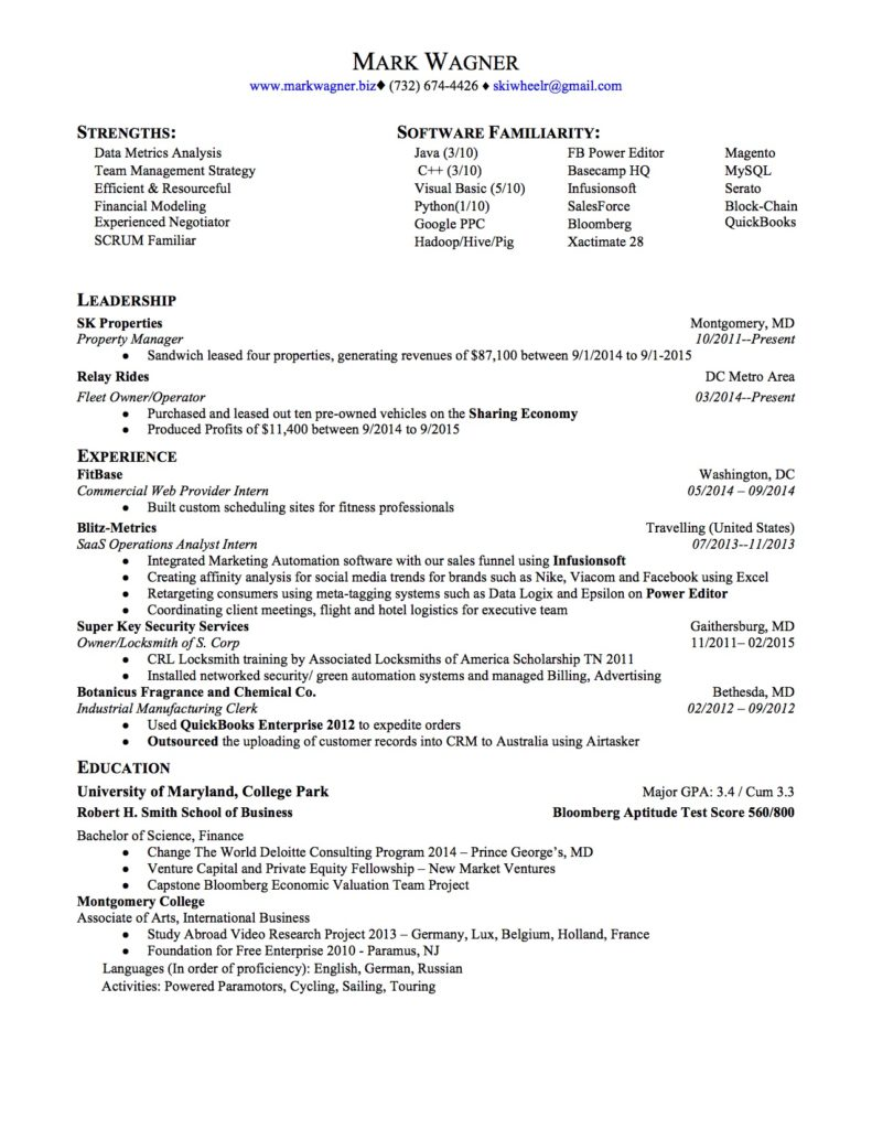 resume trademark resume wagner mark resume 16jp
